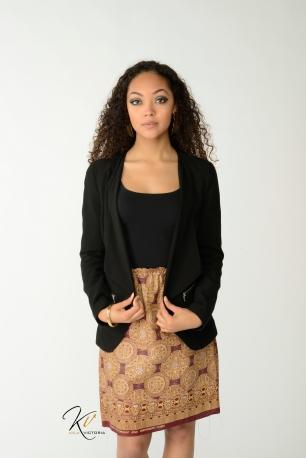 KV0012 Straight Banded Skirt