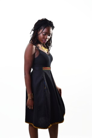 MARIAM [KV0020] Pleated, Afro-fused skirt