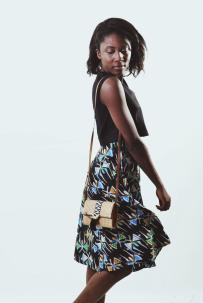 DAISY [KV0019] Wrap flare skirt.