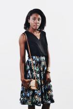DAISY [KV0019]Wrap flare skirt.