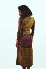 KHADIJAT [KV0025] Wrap dress/alternate waist coat.