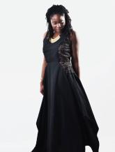 GLORIA [KV0015] Mesh panelled full skirt (long).