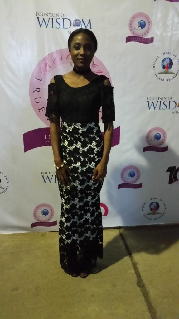 Lace dress - cold shoulder style. Formal bespoke dress