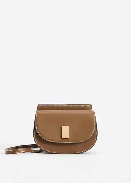 Tan shoulder strap bag